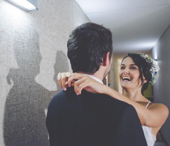 fotografía de bodas - encuentro- first look wedding photography